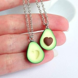 Jewelry - Last Chance Heart avocado couples necklace set